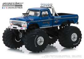 Ford  - F-250 Monster Truck 1974 blue - 1:64 - GreenLight - 49040A - gl49040A | Tom's Modelauto's
