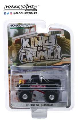 Ford  - F-250 Monster Truck black/red - 1:64 - GreenLight - 49040B - gl49040B | Tom's Modelauto's