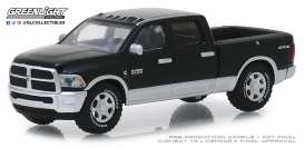 Ram  - 2500 Big Horn 2018 black/silver - 1:64 - GreenLight - 30047 - gl30047 | Tom's Modelauto's