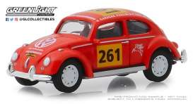 Volkswagen  - Beetle 1954 red-orange - 1:64 - GreenLight - 13240A - gl13240A | Tom's Modelauto's