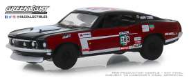 Ford  - Mustang Mach 1 1969 red/black - 1:64 - GreenLight - 13240D - gl13240D | Tom's Modelauto's