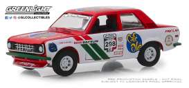 Datsun  - 510 1972 white/red - 1:64 - GreenLight - 13240F - gl13240F | Tom's Modelauto's