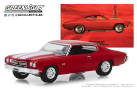 Chevrolet  - Chevelle 1970 red - 1:64 - GreenLight - 30061 - gl30061 | Tom's Modelauto's