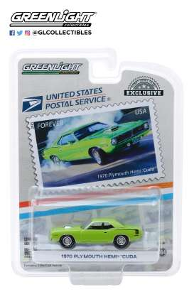 Plymouth  - Hemi Cuda 1970 green - 1:64 - GreenLight - 30069 - gl30069 | Tom's Modelauto's