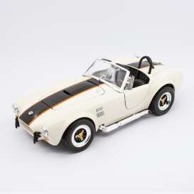 Shelby  - Cobra 427S/C 1964 cream/black - 1:18 - Lucky Diecast - 92058 - ldc92058cr | Toms Modelautos