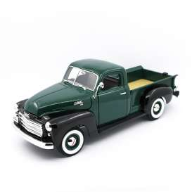 GMC  - 1950 green/black - 1:18 - Lucky Diecast - 92648 - ldc92648gnbk | Tom's Modelauto's