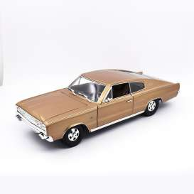 Dodge  - Charger 1966 brons - 1:18 - Lucky Diecast - 92638 - ldc92638bs | Tom's Modelauto's