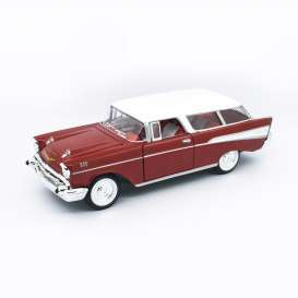 Chevrolet  - Nomad 1957 red/white - 1:24 - Lucky Diecast - 24203 - ldc24203r | Tom's Modelauto's