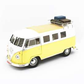 Volkswagen  - Microbus 1962 yellow/white - 1:18 - Lucky Diecast - 92328A - ldc92328Ay | Tom's Modelauto's