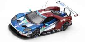 Ford  - GT 2018 red/blue/white - 1:43 - Spark - S7051 - spas7051 | Toms Modelautos