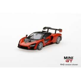 McLaren  - *Senna* 2018 orange - 1:64 - Mini GT - mgt00018R - MGT00018rhd | Tom's Modelauto's
