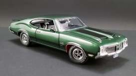 Oldsmobile  - 444 W30 1970 green/black - 1:18 - Acme Diecast - A1805612 - acme1805612 | Tom's Modelauto's
