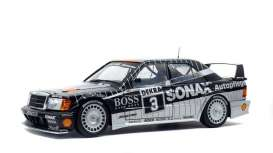 Mercedes Benz  - 190E 1990 black - 1:18 - Solido - 1801002 - soli1801002 | Tom's Modelauto's