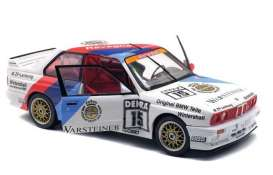 BMW  - M3  1989 white/red/blue - 1:18 - Solido - 1801503 - soli1801503 | Tom's Modelauto's