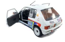 Peugeot  - 205 Rally 1989 white/red/blue - 1:18 - Solido - 1801703 - soli1801703 | Tom's Modelauto's