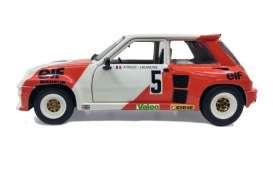 Renault  - 5 Turbo 1982 red/white - 1:18 - Solido - 1801305 - soli1801305 | Tom's Modelauto's