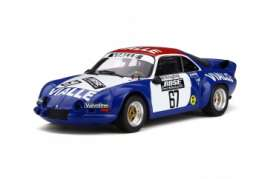Renault  - Alpine A110 1977 blue/white/red - 1:18 - OttOmobile Miniatures - ot795 - otto795 | Tom's Modelauto's