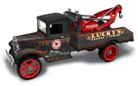 Ford  - Tow Truck *Texaco* 1931 black/brown - 1:34 - Auto World - CP7515 - AWCP7515 | Toms Modelautos