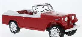 Jeep  - Jeepster 1970 red/white - 1:18 - BoS - Bos340 - BoS340 | Toms Modelautos