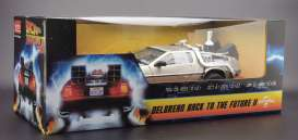 Delorean  - Back to the Future II 1983 stainless steel - 1:18 - SunStar - 2715 - sun2715 | Tom's Modelauto's