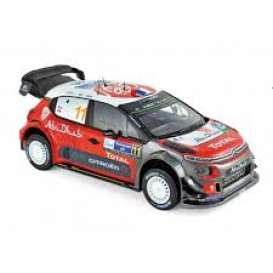 Citroen  - C3 2018 red/white/black - 1:18 - Norev - 181638 - nor181638 | Toms Modelautos