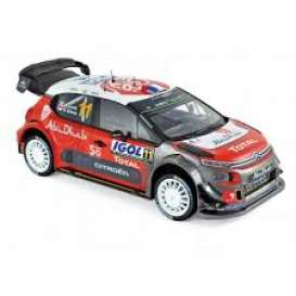 Citroen  - C3 2018 red/white/black - 1:18 - Norev - 181639 - nor181639 | Toms Modelautos