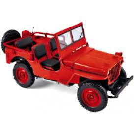 Jeep  - 1942 red - 1:18 - Norev - 189014 - nor189014 | Tom's Modelauto's