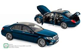Mercedes Benz  - S-Class AMG Line 2018 blue - 1:18 - Norev - 183478 - nor183478 | Tom's Modelauto's