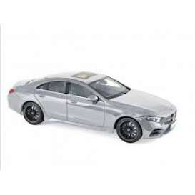 Mercedes Benz  - CLS-Class  2018 silver - 1:18 - Norev - 183489 - nor183489 | Tom's Modelauto's