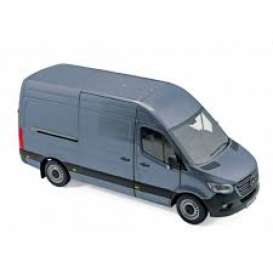 Mercedes Benz  - Sprinter 2018 blue-grey - 1:18 - Norev - 183423 - nor183423 | Tom's Modelauto's