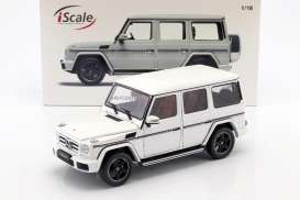 Mercedes Benz  - W463 2015 white - 1:18 - iScale - 11800000005 - iscale118005 | Tom's Modelauto's