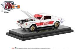 Ford  - Mustang 1965 white/red - 1:24 - M2 Machines - 40300-68A - M2-40300-68A | Tom's Modelauto's