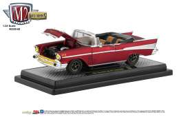 Chevrolet  - Bel Air Convertible 1957 red/black - 1:24 - M2 Machines - 40300-68B - M2-40300-68B | Tom's Modelauto's