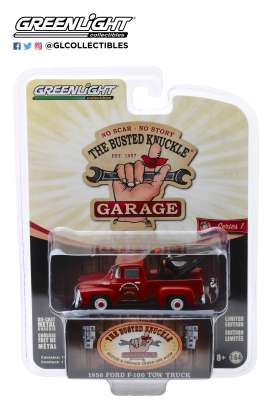 Ford  - F-100 1956 orange-red - 1:64 - GreenLight - 39010B - gl39010B | Tom's Modelauto's