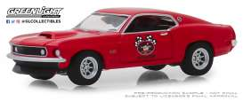 Ford Mustang - 1969 red - 1:64 - GreenLight - 39010D - gl39010D | Tom's Modelauto's