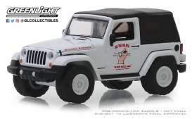 Jeep  - Wrangler 2012 white/grey - 1:64 - GreenLight - 39010E - gl39010E | Tom's Modelauto's