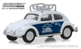 Volkswagen  - Beetle white/blue - 1:64 - GreenLight - 39010F - gl39010F | Tom's Modelauto's