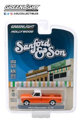Chevrolet  - C-10 1971 red - 1:64 - GreenLight - 44860A - gl44860A | Tom's Modelauto's