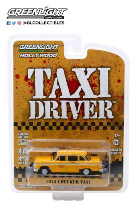Checker  - 1975 yellow - 1:64 - GreenLight - 44860B - gl44860B | Tom's Modelauto's