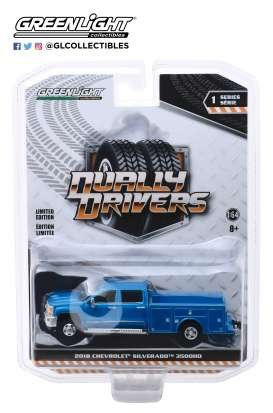 Chevrolet  - Silverado 2018 blue - 1:64 - GreenLight - 46010B - gl46010B | Tom's Modelauto's