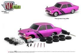 Datsun  - 510 1970 pink/black - 1:24 - M2 Machines - 47000-07B - M2-47000-07B | Tom's Modelauto's