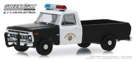 Ford  - F-100 1975 white/black - 1:64 - GreenLight - 30085 - gl30085 | Tom's Modelauto's