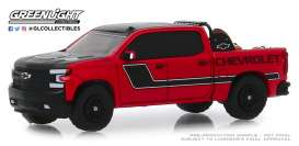 Chevrolet  - Silverado 2019 red - 1:64 - GreenLight - 30087 - gl30087 | Tom's Modelauto's