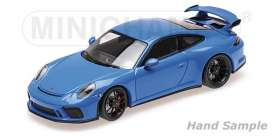 Porsche  - 911 GT3 2018 blue - 1:18 - Minichamps - 110067024 - mc110067024 | Toms Modelautos