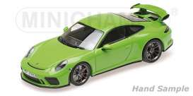 Porsche  - 911 GT3 2018 yellow/green - 1:18 - Minichamps - 110067025 - mc110067025 | Toms Modelautos