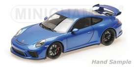 Porsche  - 911 GT3 2017 blue - 1:18 - Minichamps - 110067030 - mc110067030 | Tom's Modelauto's