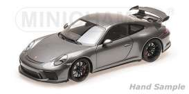 Porsche  - 911 GT3 2017 grey - 1:18 - Minichamps - 110067034 - mc110067034 | Toms Modelautos