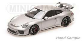 Porsche  - 911 GT3 2017 grey - 1:18 - Minichamps - 110067035 - mc110067035 | Toms Modelautos