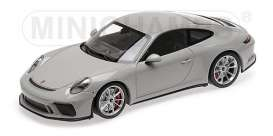 Porsche  - 911 GT3 2018 chalk - 1:18 - Minichamps - 110067424 - mc110067424 | Tom's Modelauto's