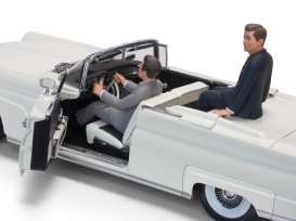 Lincoln  - Mark III Convertible *JFK* 1958 white - 1:18 - SunStar - 4707 - sun4707 | Toms Modelautos